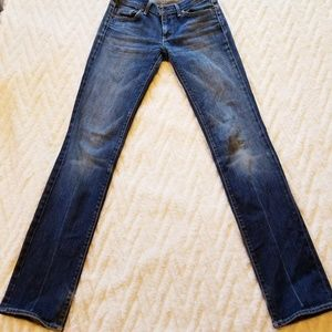 7 For All Mankind mid wash straight leg Jeans 28